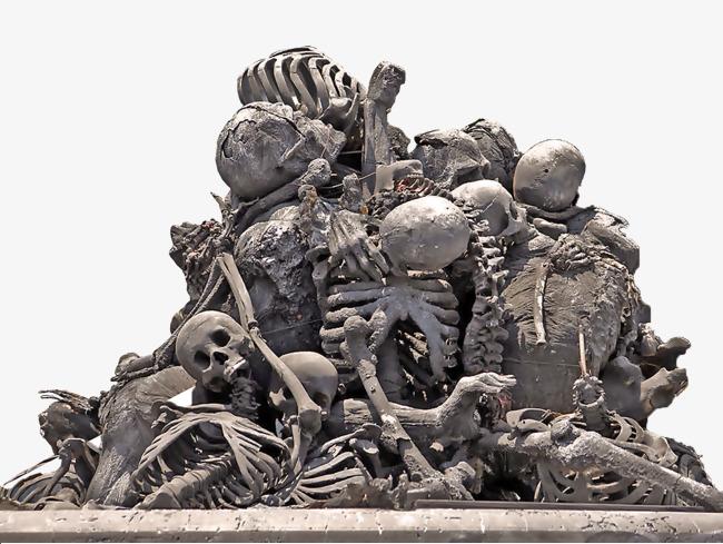 A of bones skeleton. Bone clipart pile bone