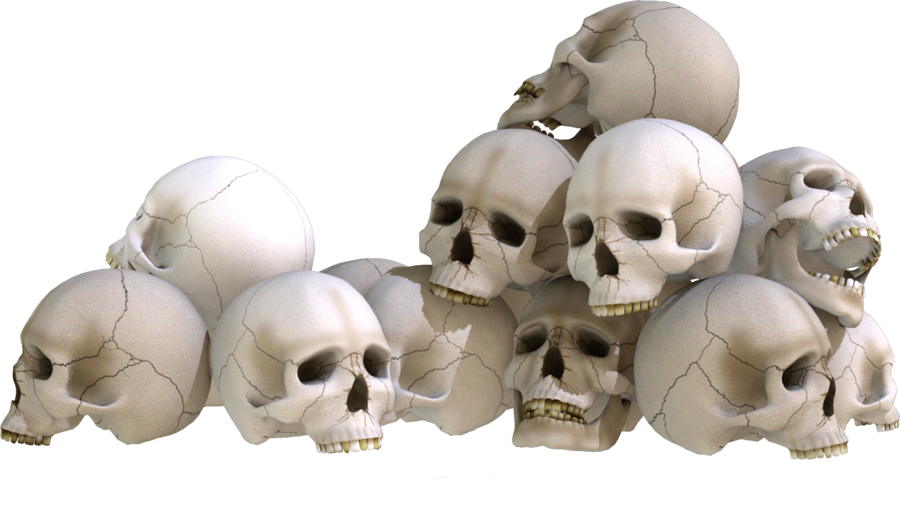 Bone clipart pile bone. Skull piles by kungfufrogmma