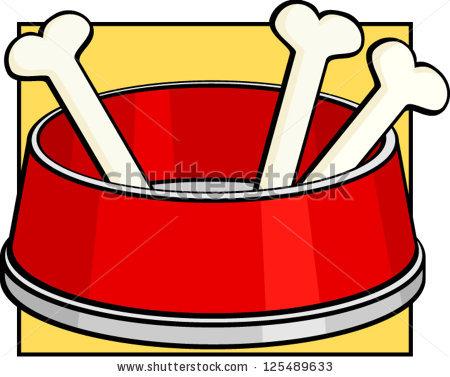 Bones dog bowl pencil. Bone clipart pile bone