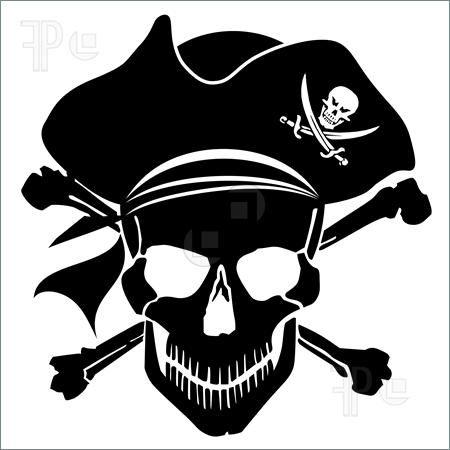Pirate clip art free. Bone clipart printable
