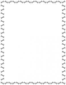Dog border a featuring. Bone clipart simple
