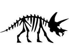 Dinosaur bones drawing at. Bone clipart simple
