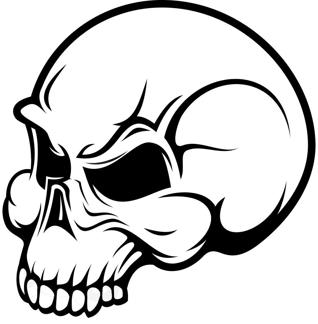 Clipart skull basic. Simple wikiclipart