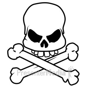 Bone clipart skull. Presenter media powerpoint templates