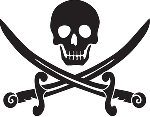 Bone clipart skull. Book black and white