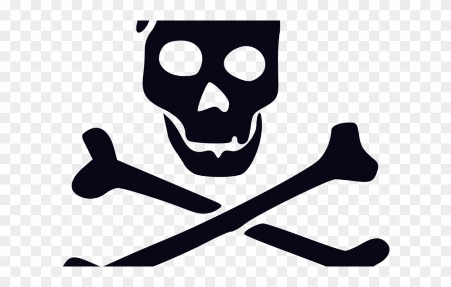 Pirate flag clip art. Bone clipart skull