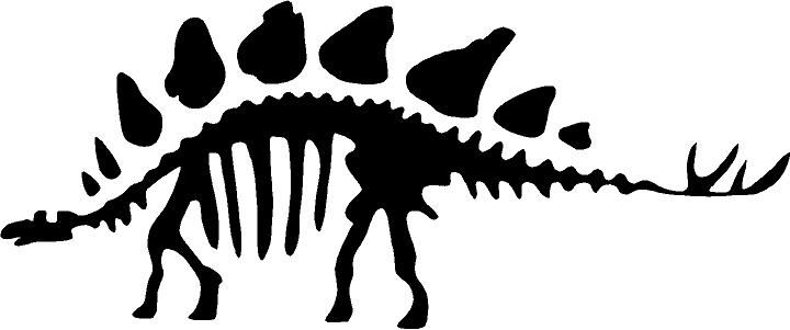 Skeleton decal marlowe s. Bone clipart stegosaurus