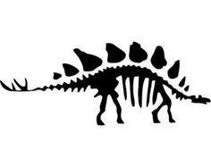 Skeleton decal cricut silhouettes. Bone clipart stegosaurus