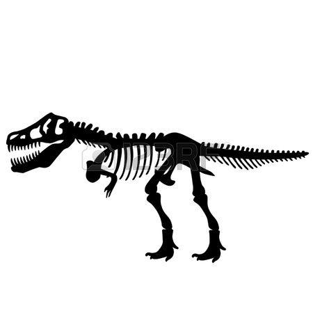 Fossil clipart t rex fossil. Dinosaur skeleton dinosaurs pinterest