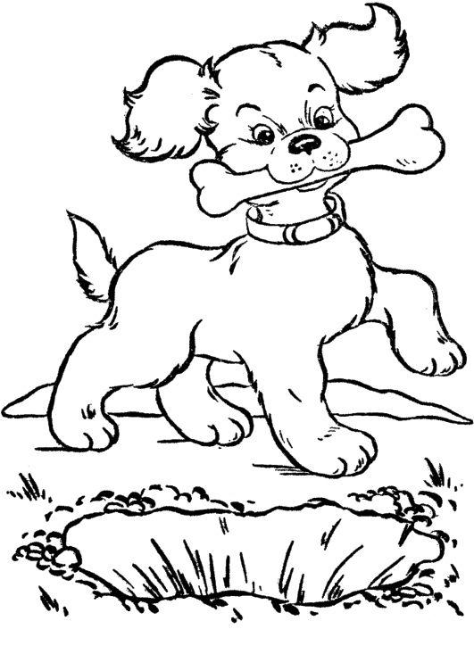 Eat dog pinterest bones. Bone clipart coloring page