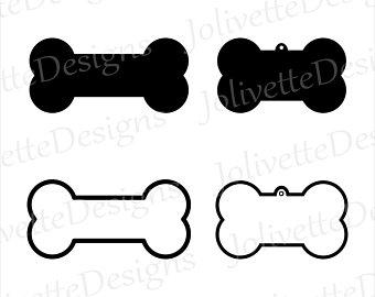 Bones clipart cut out. Dog bone etsy tag