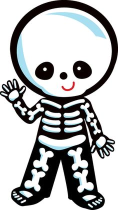 Bones cute pencil and. Skeleton clipart animated