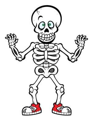 Cute halloween clip art. Skeleton clipart kid