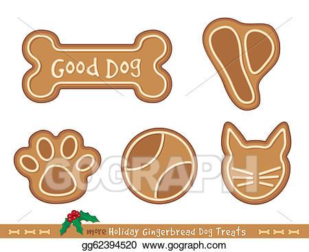Gingerbread clipart dog. Eps illustration treats holiday