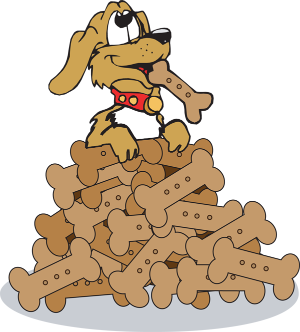 Dog biscuit clip art. Mail clipart pile