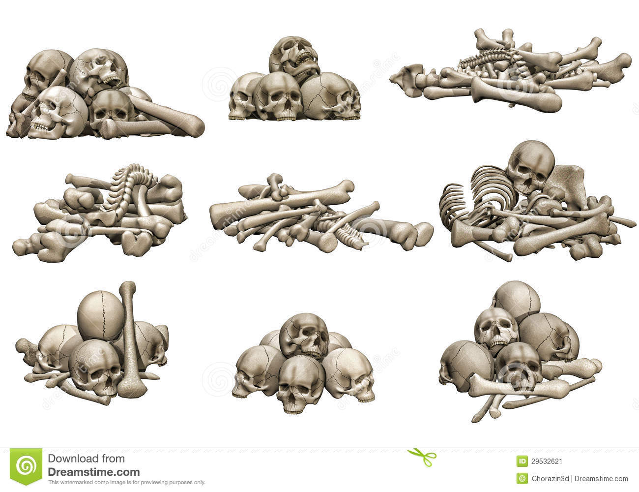 Pile of drawing at. Bones clipart drawn