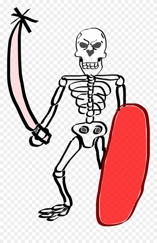 Human skeleton skull bone. Bones clipart easy