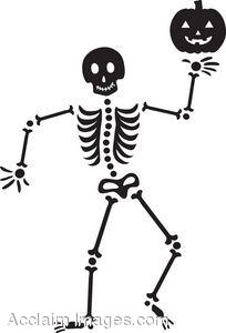 Happy skeleton . Bones clipart easy