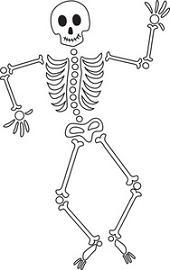 Bones clipart easy. Halloween skeleton fun for