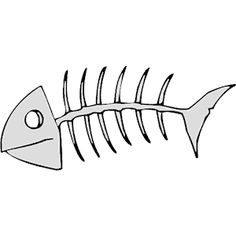 Bone clipart fish bone. Pictures of white skeleton