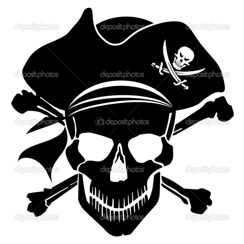 Pirate clipart sign. Skull and crossbones clip