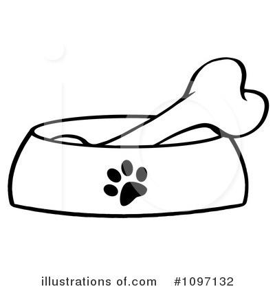 Dog bone by hit. Bones clipart illustration