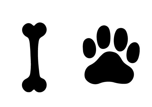Try this free dog. Bones clipart silhouette