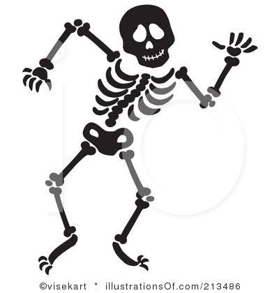 Skelton pencil and in. Bones clipart simple