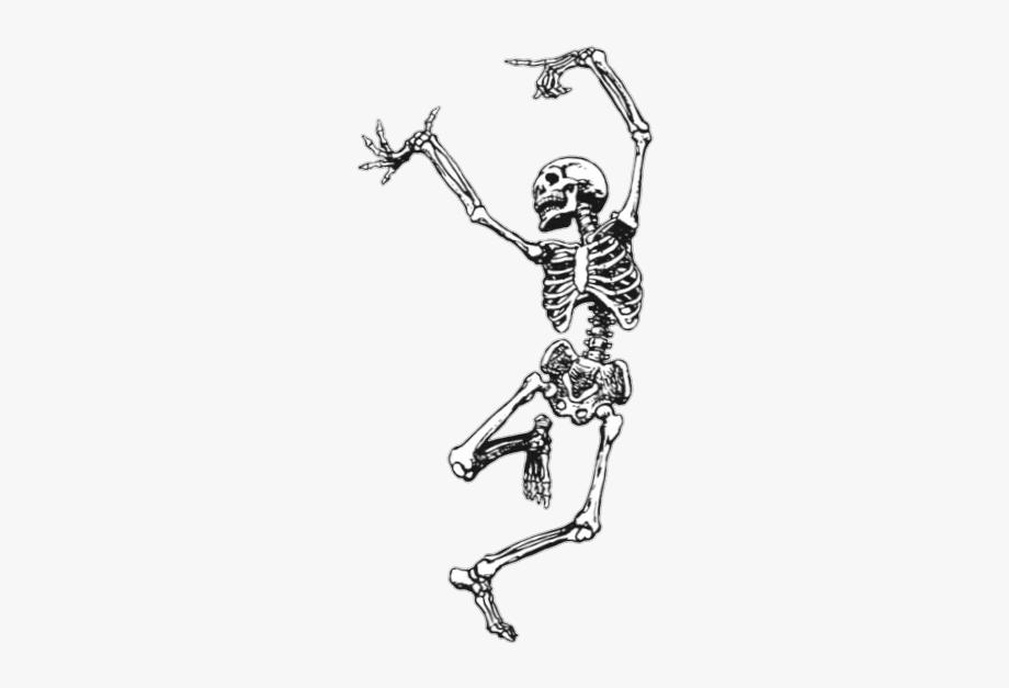 Transparent bone dance dancing. Bones clipart skeleton