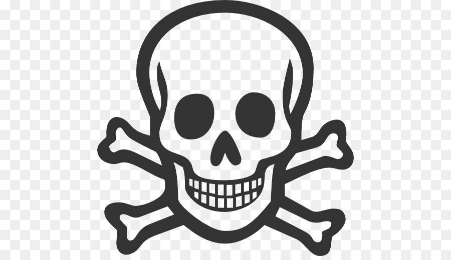 Computer icons poison and. Bone clipart skull