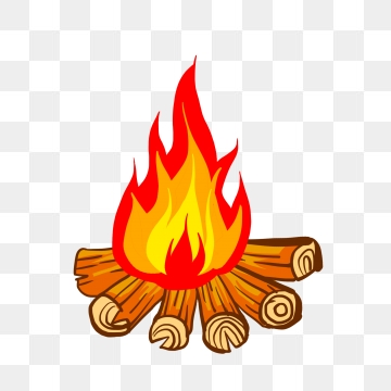 Bonfire png psd and. Campfire clipart vector