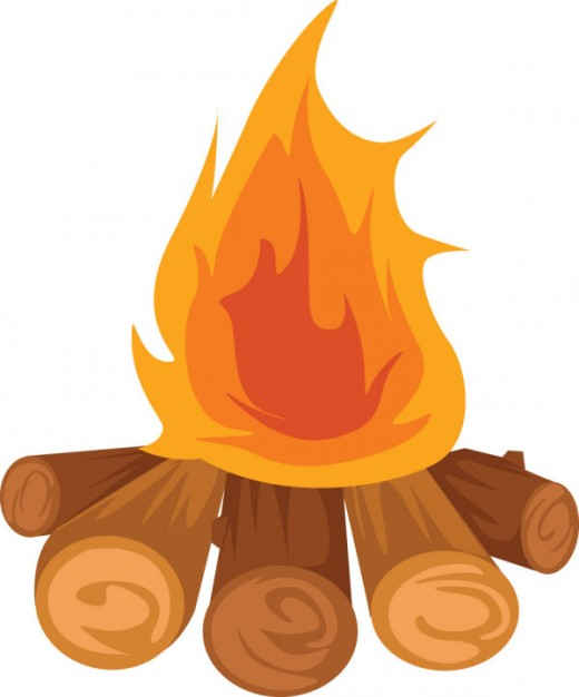 bonfire clipart animated