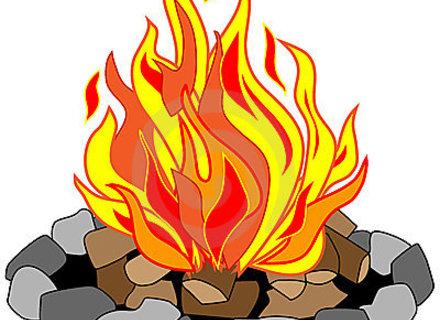 Campfire clipart comic.  cartoon fire pit