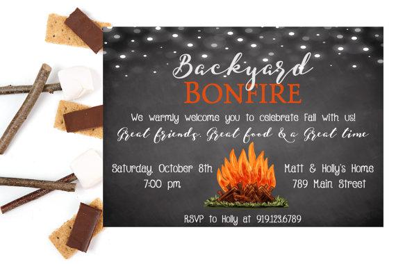 Bonfire clipart backyard bonfire. Party invitations invitation bonf
