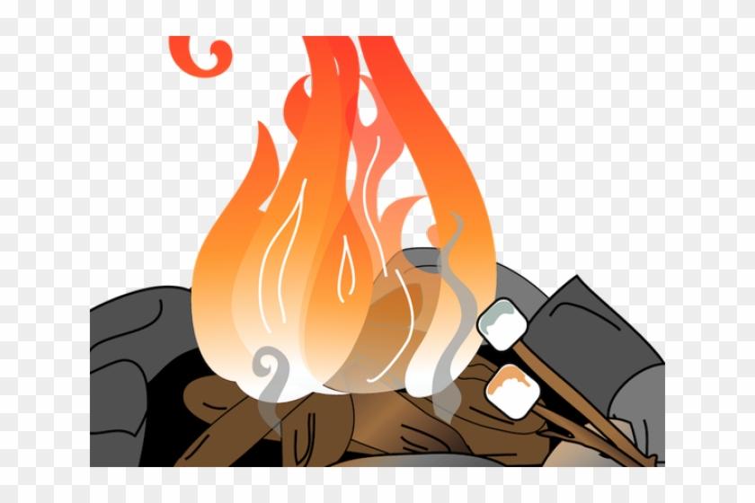 Campfire smore cartoon fire. Bonfire clipart backyard bonfire