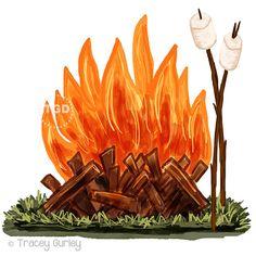 Two atlantis family campouts. Bonfire clipart backyard bonfire