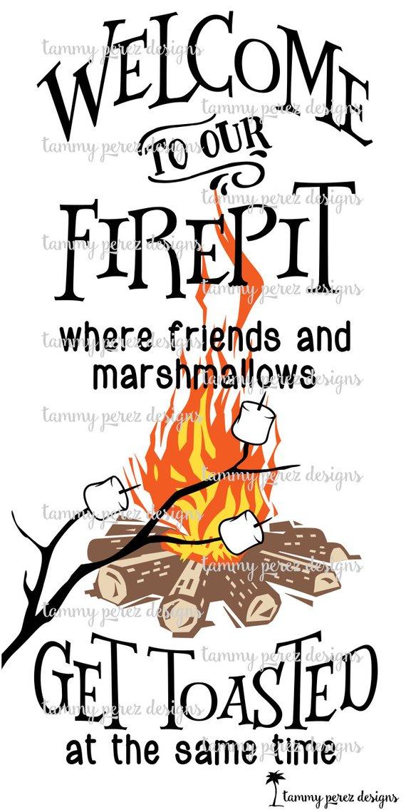 Welcome to our firepit. Bonfire clipart backyard bonfire