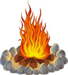 Image result for clip. Clipart beach bonfire