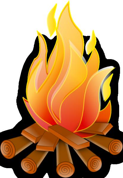 Beach bonfire . Fireplace clipart log in