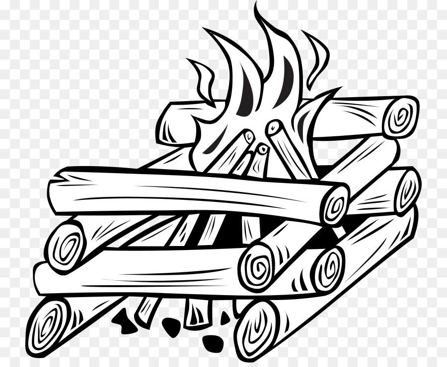 Campfire clipart line art. Camping bonfire clip free