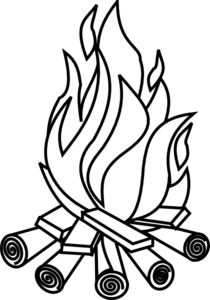 Campfire clipart black and white. Free bonfire cliparts download