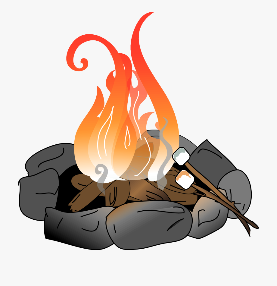 Campfire clipart fire pit. Bonfire pencil and in