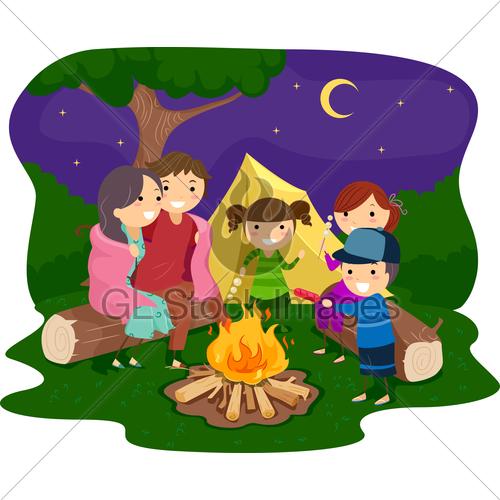 And lake . Bonfire clipart bon fire