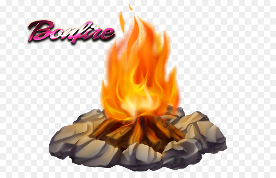Bonfire clipart bon fire. Camping cartoon campfire smore