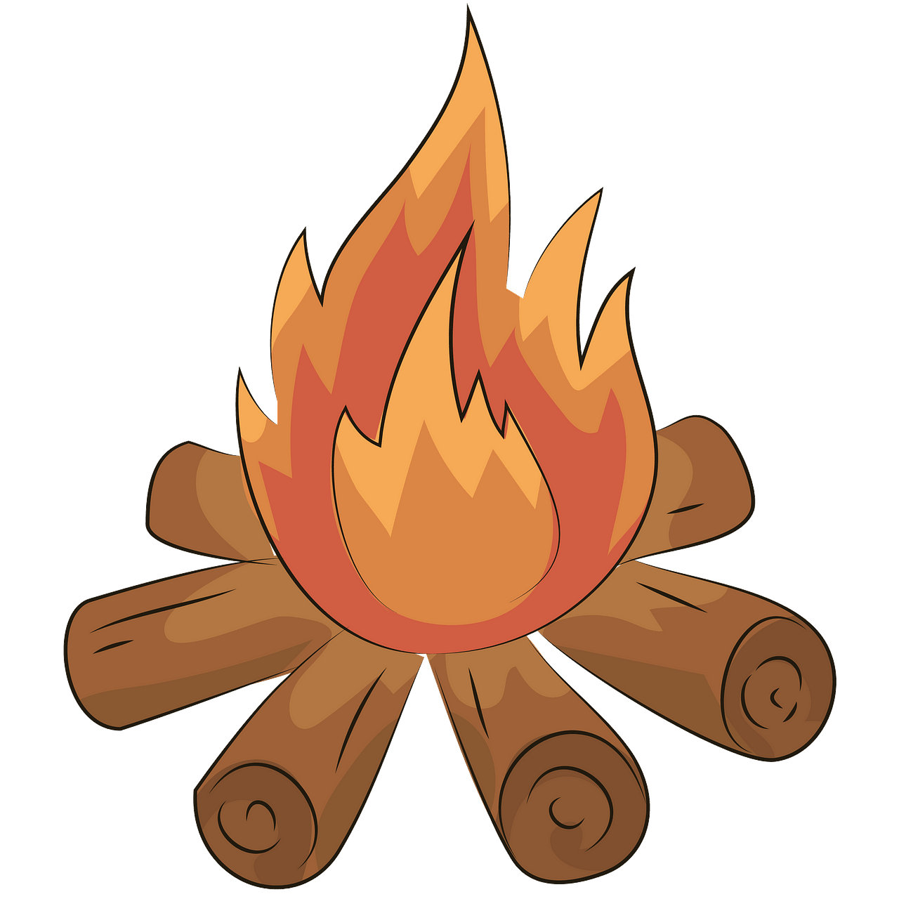 Bonfire clipart bon fire. Free download creazilla