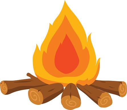 Campfire night pencil and. Bonfire clipart bon fire