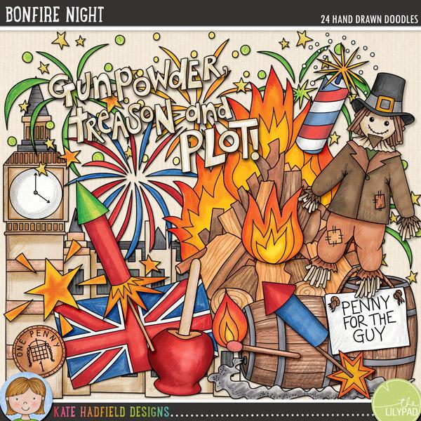 . Bonfire clipart bonfire night