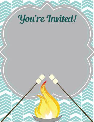 Bonfire clipart bonfire party. Invitation template free incep