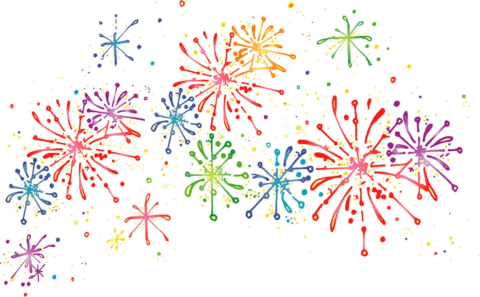 collection of fireworks. Celebrate clipart transparent background
