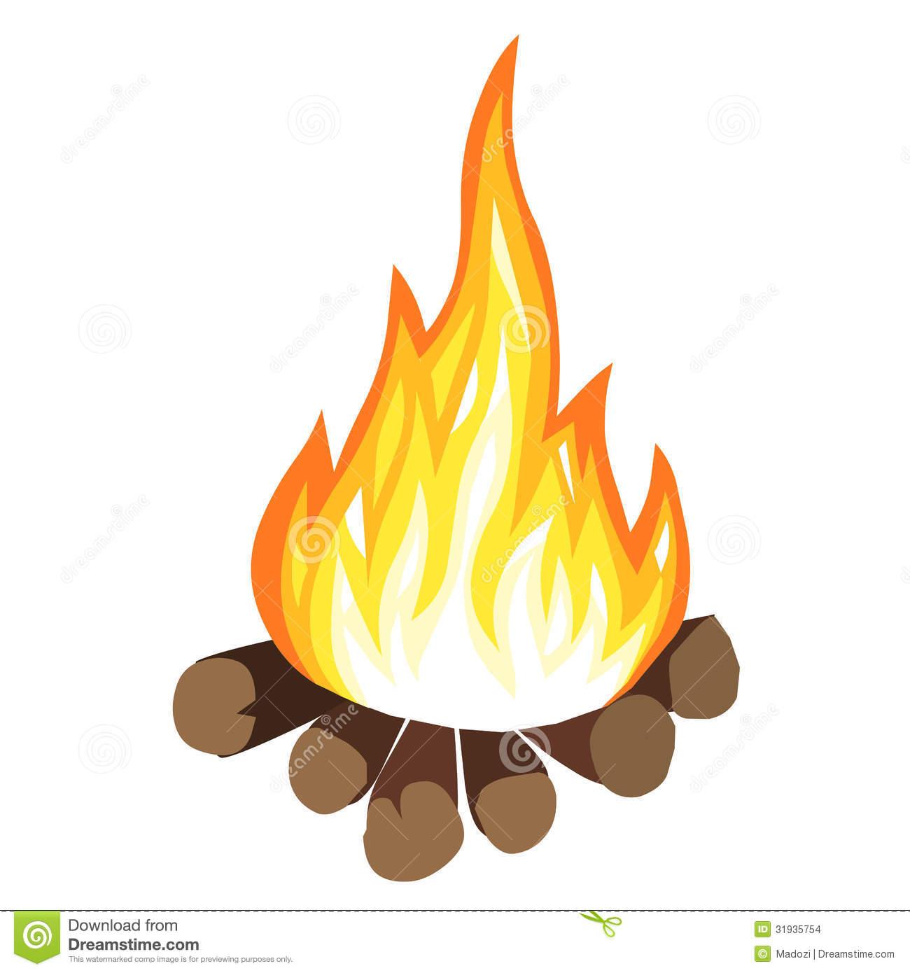 Campfire clipart cartoon. Bonfire clip art panda